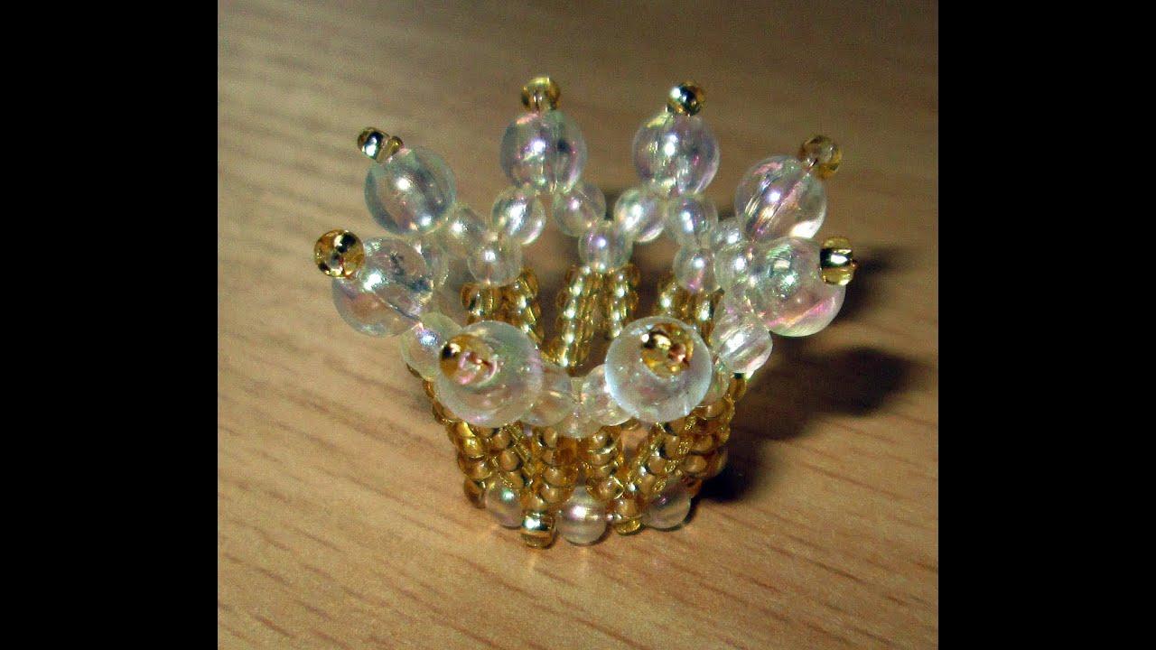 Корона из бисера схемы