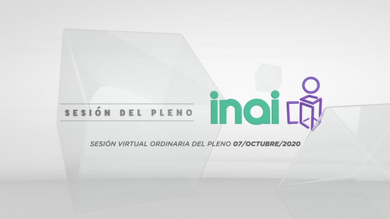 Sesión pública virtual del 7 de octubre de 2020