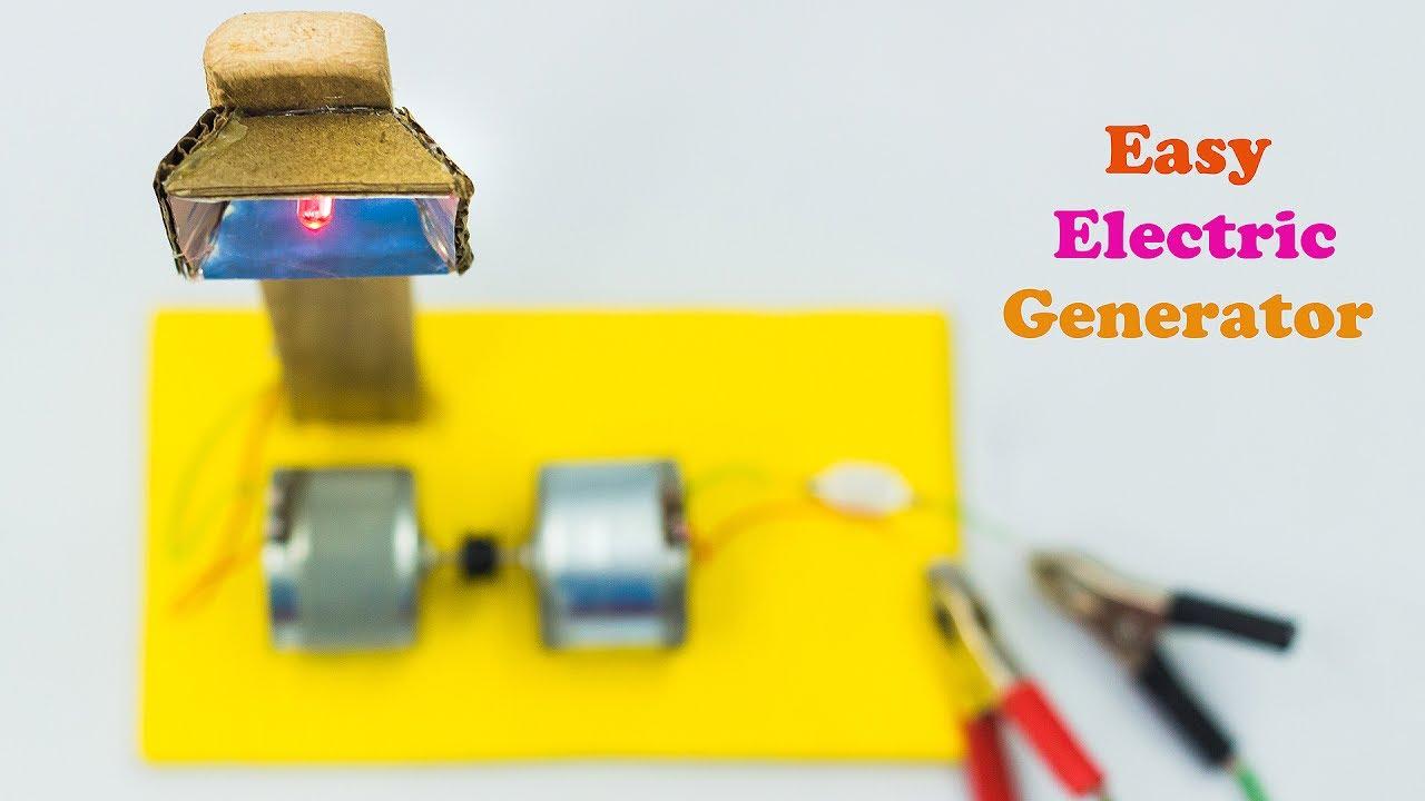 Science Fair Project Ideas Electric Generator