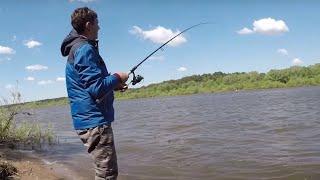 Первая рыбалка на реке Ока.