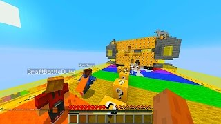 Minecraft LUCKY BLOCK RAINBOW ROAD PVP with The Pack (Minecraft Lucky Block Mod)