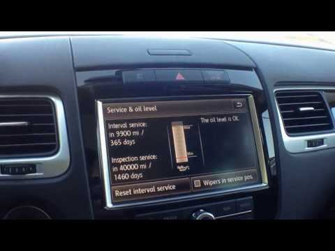 How to check the oil level in the VW Touareg