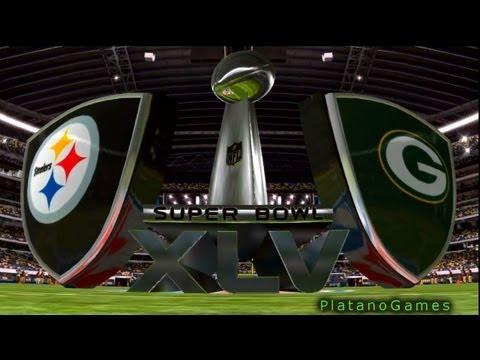 NFL 2010 Super Bowl XLV - Pittsburgh Steelers vs Green Bay Packers - 1st Qrt - Madden