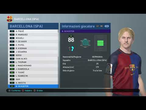 CLASSIC BARCELONA PES 2019 - ALL TIME XI UEFA LEGENDS