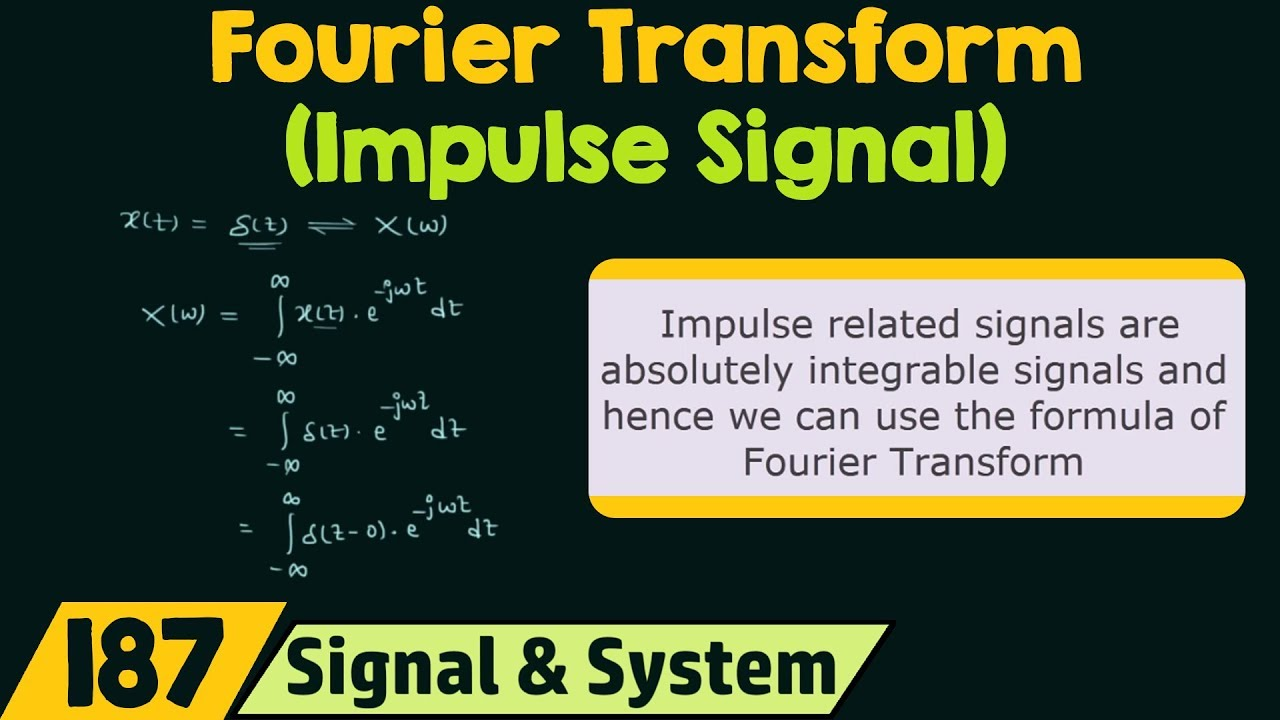 Fourier Transform of Basic Signals (Impulse Signal)