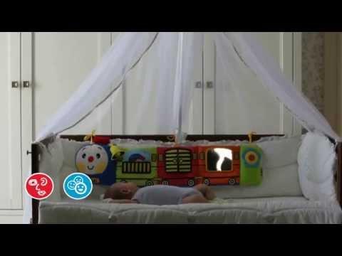 10663 Бампер на кроватку «Паровозик  Чух Чух» со звуками