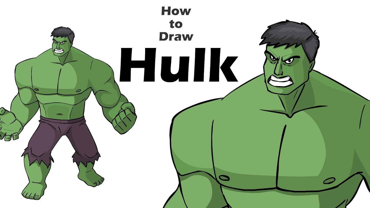 How To Draw Hulk Draw Cartoon Hulk Character Marvel Characters Draw Avengers Youtube Learn from easy drawing video instruction and step by step images. how to draw hulk draw cartoon hulk character marvel characters draw avengers