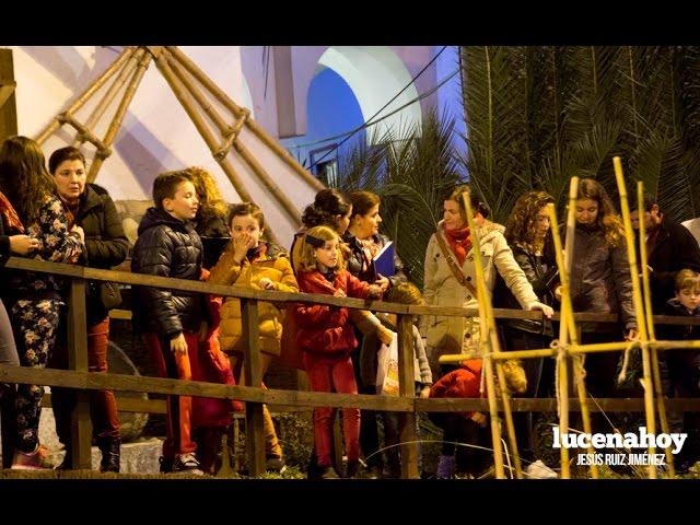 VÍDEO: Inauguración del Portal de Belén y alumbrado navideño en Lucena