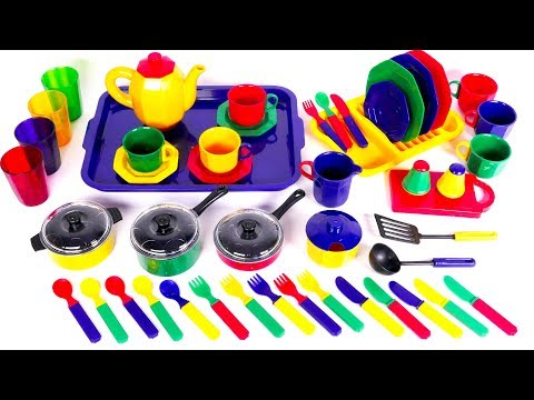 Cooking with Pots Pans and Kitchen Dishes Playset for Kids | Yippee Toys Video