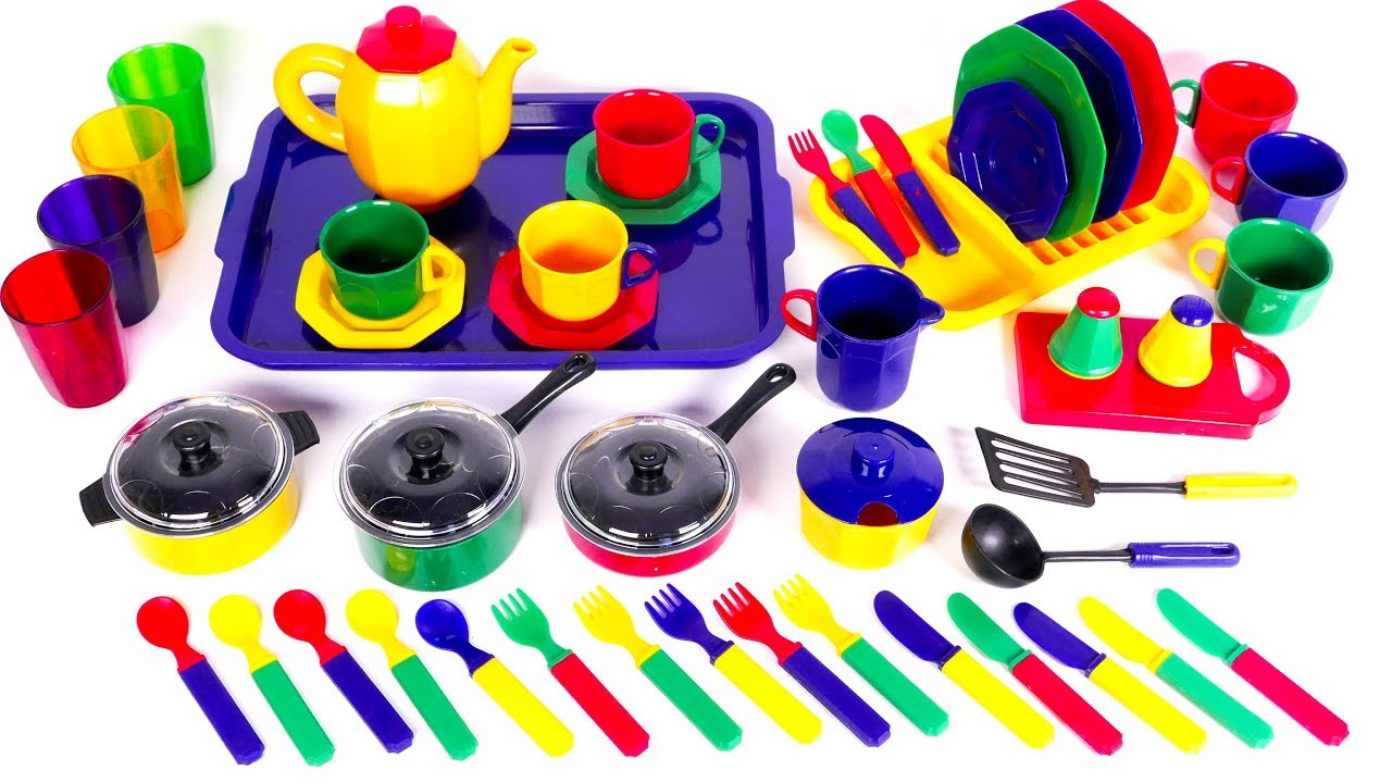 Pots Pans And Kitchen Dishes Playset