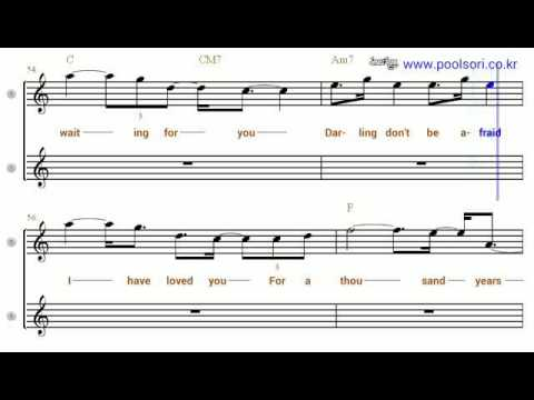 A thousand years  - Bb Tenor/Soprano Sax Sheet Music  [ Christina Perri ]