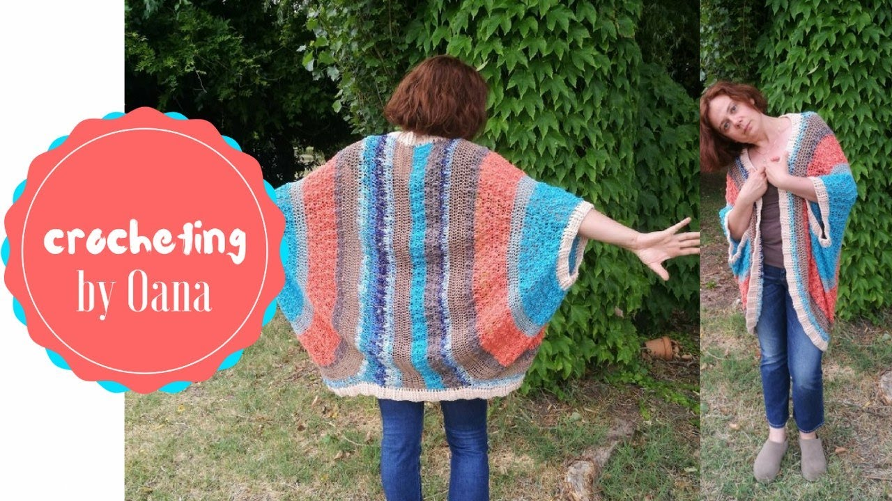 03bc81542830d Oana s crochet cocoon cardigan - YouTube