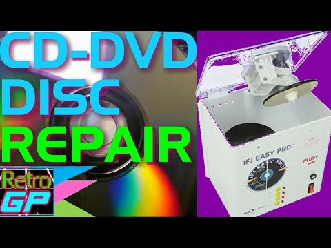 CD DVD Disc Repair with the JFJ EASY PRO - Review and Demo - Retro GP