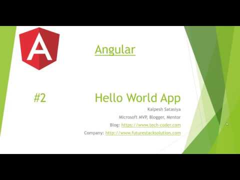 Angular Tutorial  - Hello World thumbnail