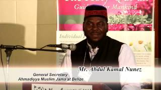 Mr  Abdul Kamal Nunez speech topic The Promised Messiah (as)'s Vision of Peace