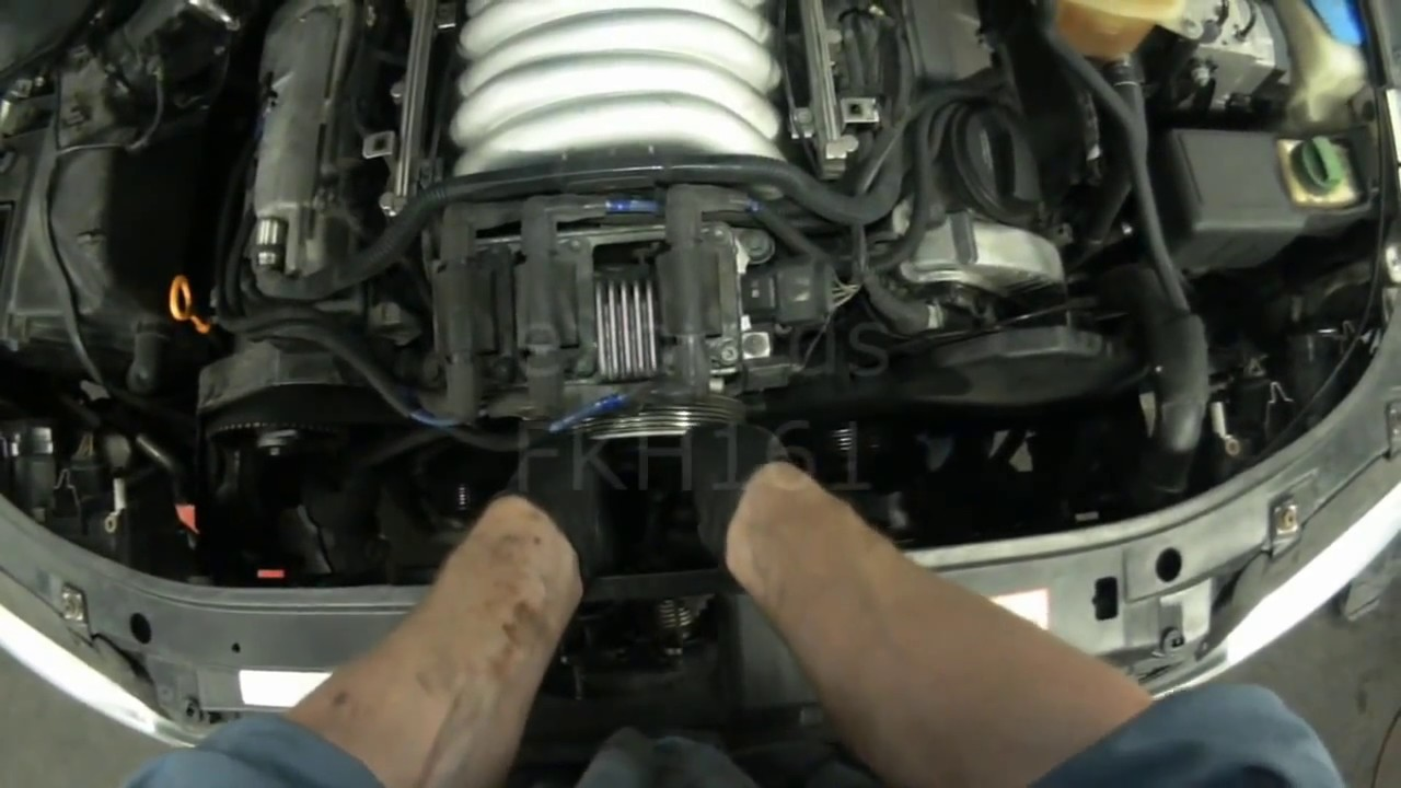 hight resolution of audi a4 atq v6 timing belt thermostat removal