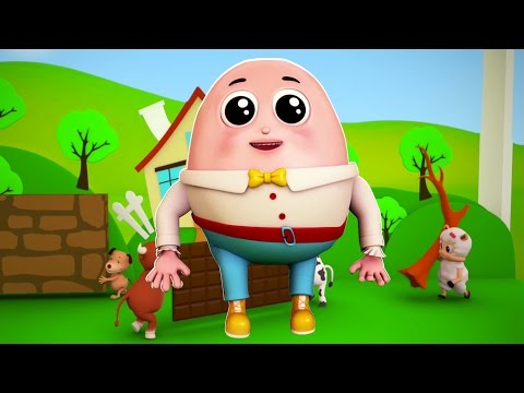 Humpty dumpty | Rima infantil | Canción preescolar | 3D Rhyme For Kids | Humpty Dumpty Sat On A Wall