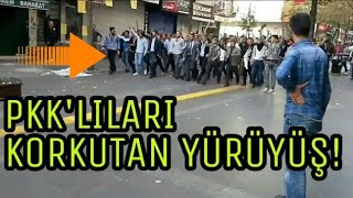 Ülkücüler'den, PKK'lıları korkutan yürüyüş!