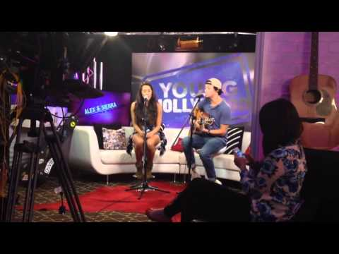 Alex & Sierra - Scarecrow (Acoustic Version at Young Hollywood)