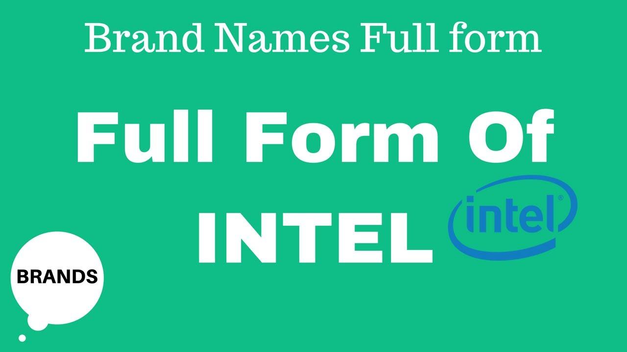 Full Form of INTEL - YouTube