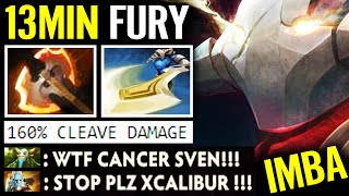 CANCER IS BACK! WTF Sven 13min Battle Fury 160% Cleave DMG Craziest VS Illusion Dota 2 Pro Gameplay
