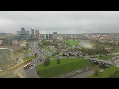 Office view. Vilnius on 26 April 2018