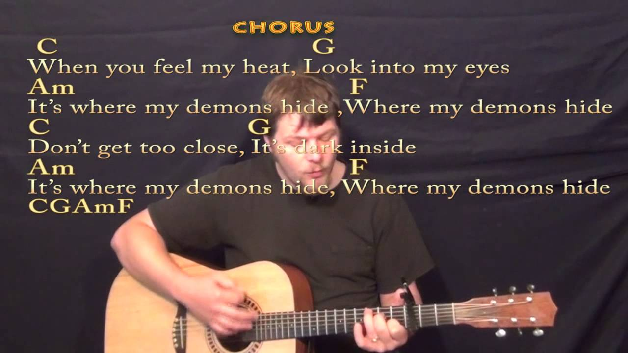 Demons Imagine Dragons Strum Guitar Cover Lesson With Chords