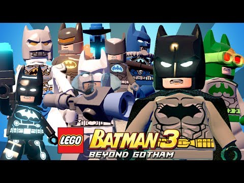 TODOS OS TRAJES DO BATMAN - LEGO Batman 3 Beyond Gotham