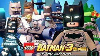 TODOS OS TRAJES DO BATMAN - LEGO Batman 3 Beyond Gotham
