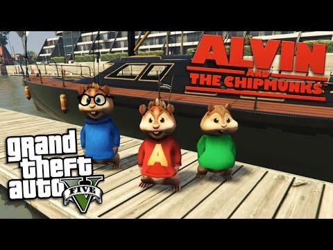 GTA 5 Mods - ALVIN AND THE CHIPMUNKS MOD w/ ALVIN, SIMON & THEODORE (GTA 5 Mods Gameplay)