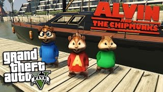 GTA 5 Mods - ALVIN AND THE CHIPMUNKS MOD w/ ALVIN, SIMON & THEODORE (GTA 5 Mods Gameplay)