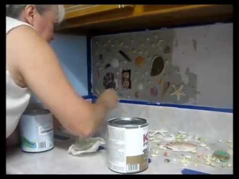 Seashell backsplash how to make your own with real for How to make a backsplash