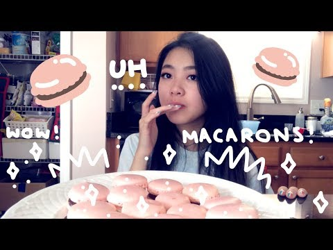 HOW TO (maybe) MAKE MACARONS! Trying to Bake | Tiffany Weng | (ft. Michelle)