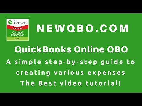 QuickBooks Online Tutorial  - How To Enter EXPENSES | Vendor