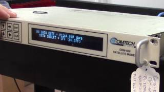 Testing Comtech EFData CDM-600 Satellite Modem