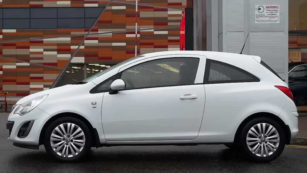2012 61plate vauxhall corsa 1 2 16v excite 3dr inc air con in glacier white youtube. Black Bedroom Furniture Sets. Home Design Ideas