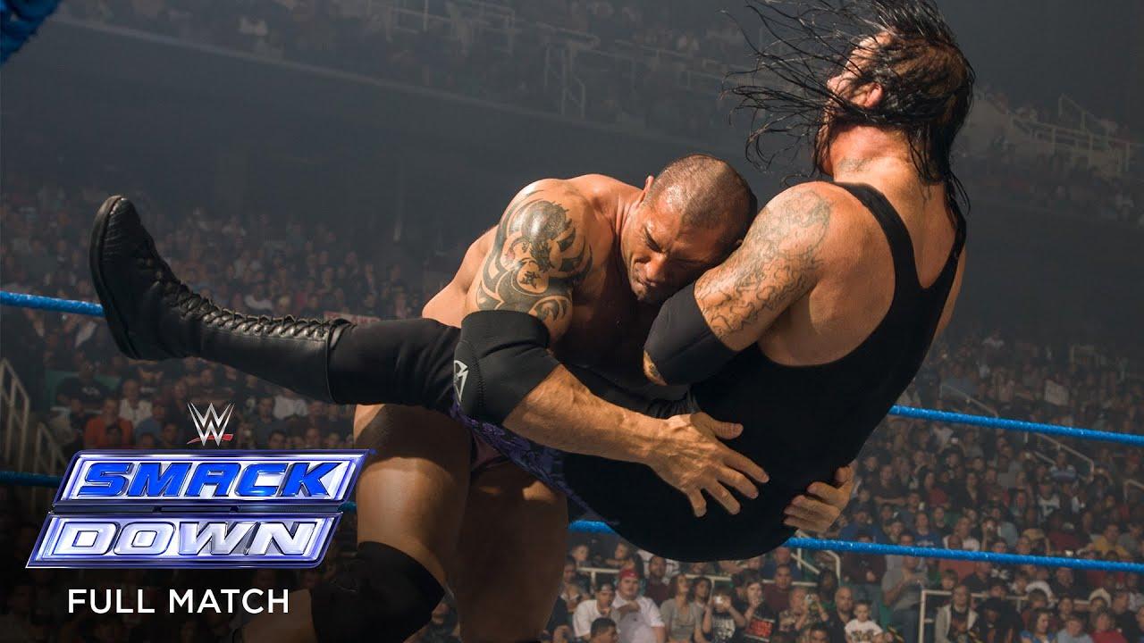 Download FULL MATCH - Undertaker vs. Batista - World Heavyweight Title No DQ Match: SmackDown, Apr. 25, 2008