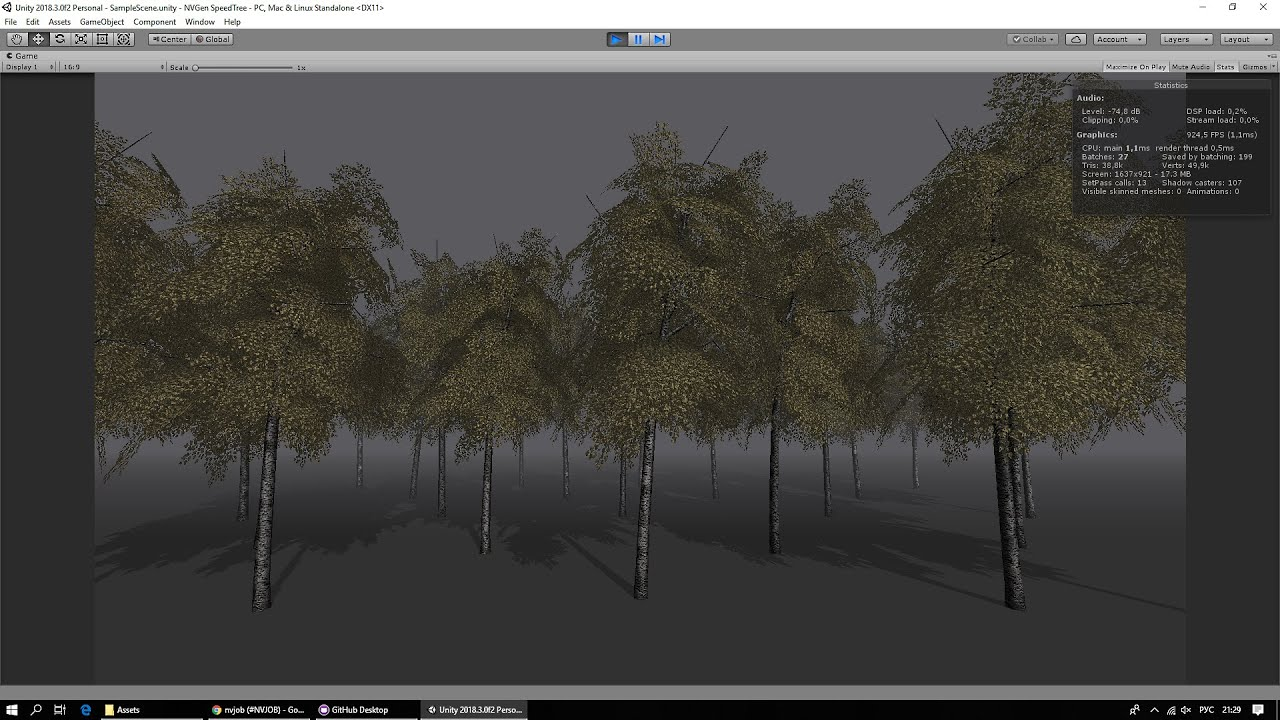 NVGen Shader for Unity SpeedTree  Fast and customized