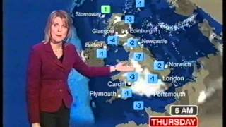 Repeat youtube video BBC Weather 28th December 2005: Snow Showers in the east