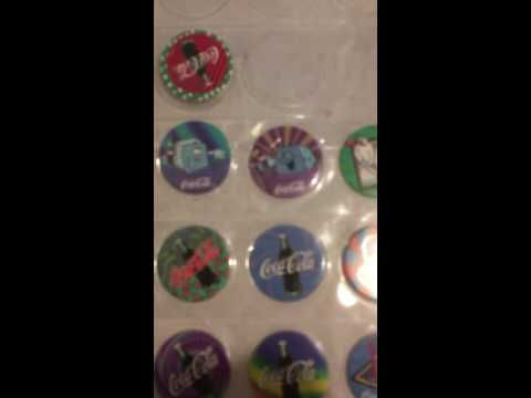 Vintage Coca Cola Pogs from 1995 Valuation