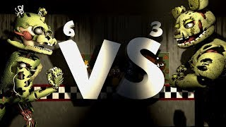 - FNAF SFM Springtrap vs Springtrap FNAF6 vs FNAF3 and more 1500 sub special