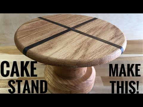 Making a Cake Stand // How To - Woodworking