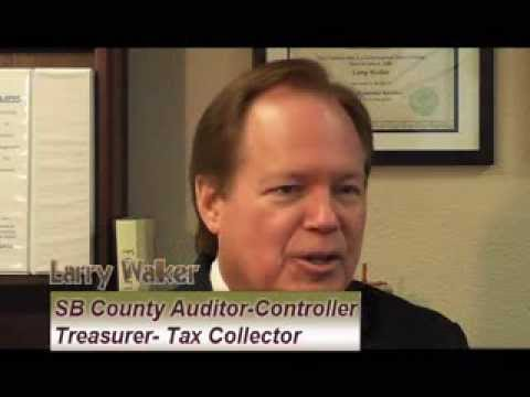 Larry Walker County Of San Bernardino Auditor Controller Treasurer