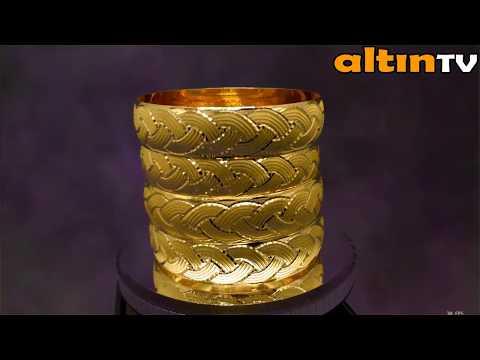 22 AYAR İŞÇİLİKSİZ ALTIN BİLEZİK MODELLERİ 22K GOLD BRACELET MODELS
