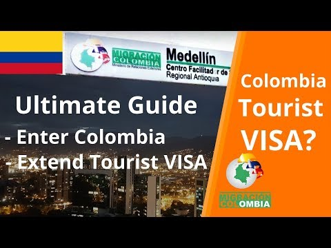 Tourist VISA Colombia | Extend Tourist VISA/Stamp (2018)