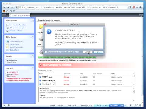 Rouge-antivirus infection (drive-by download)