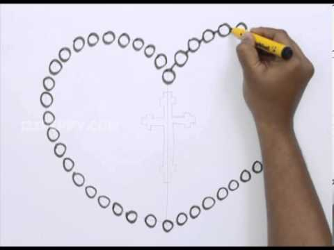 How To Draw A Rosary Beads Youtube