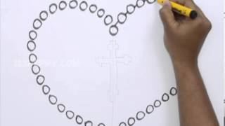 How to Draw a Rosary Beads