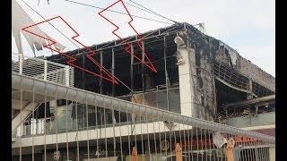 Последствия пожара в MIXX, Хадера. אחרי שריפה, מתחם מיקס חדרה