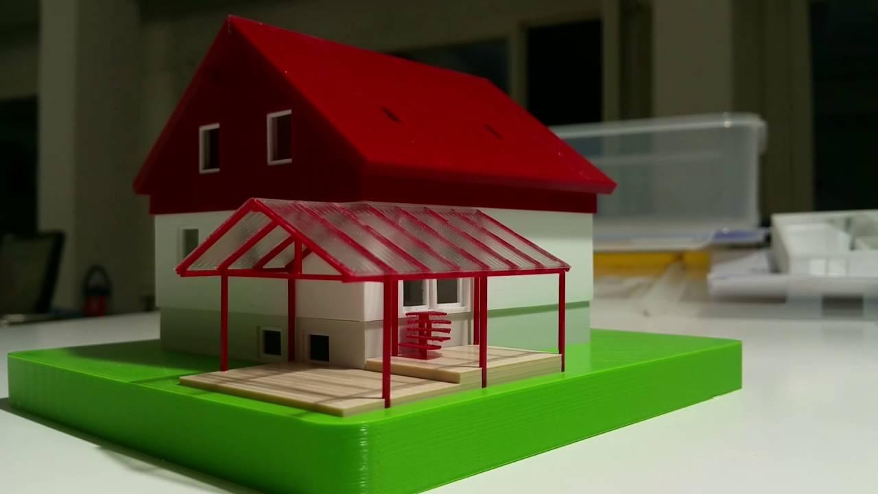 Nice 3D Druck Eines Hauses (Modell) Mit Dem Ultimaker2